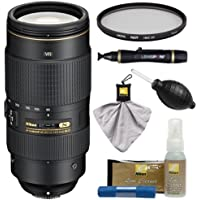 Nikon 80-400mm f/4.5-5.6G VR AF-S ED Nikkor-Zoom Lens with UV Filter + Kit for D3200, D3300, D5300, D5500, D7100, D7200, D750, D810 Cameras