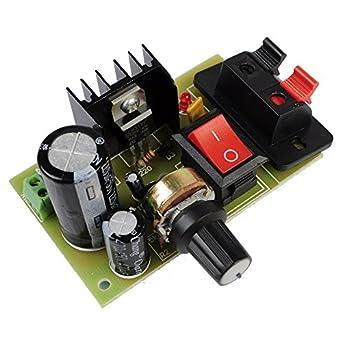 icstation lm317 adjustable ac dc to dc voltage regulator step down rh amazon com
