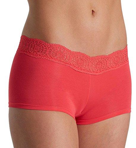 Free People Cotton Medallion Boyshort Panty (617634) L/Red