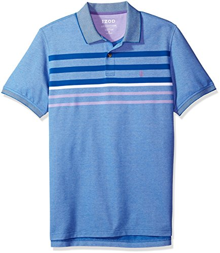 IZOD Men's Advantage Performance Stripe Polo, Olympian Blue/460, Large