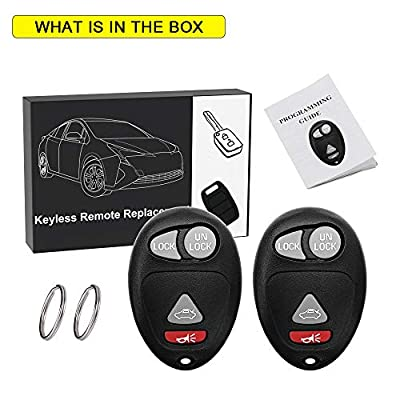 YITAMOTOR 2 Key Fob Replacement for L2C0007T Keyless Entry Remote 4-Button Compatible for Buick Regal Century Pontiac Grand Prix: Automotive