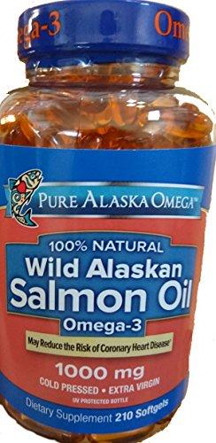 Pure Alaska Omega-3 Wild Alaskan Salmon Oil 1000mg Softgels 210-Count -
