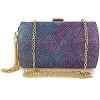 QIUUE Women's Elegent Evening Hand Chain Clutch Crossbody Bag