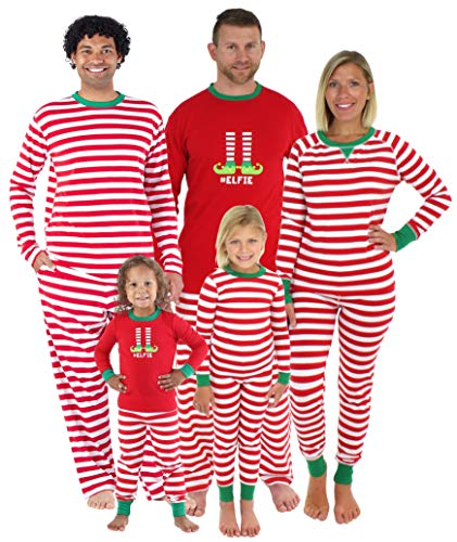 Sleepyheads Christmas Family Matching Red Striped Elf Pajama PJ Sets - Kids (SHM-5013-K-STRIPE-3T) -