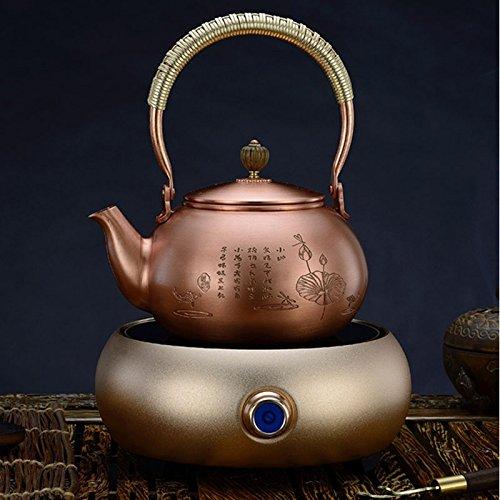 Copper-Classic-Teakettle-Handmade-Teapot-Kettle-Tea- Hot Water Boiler Heater by Garden at Home
