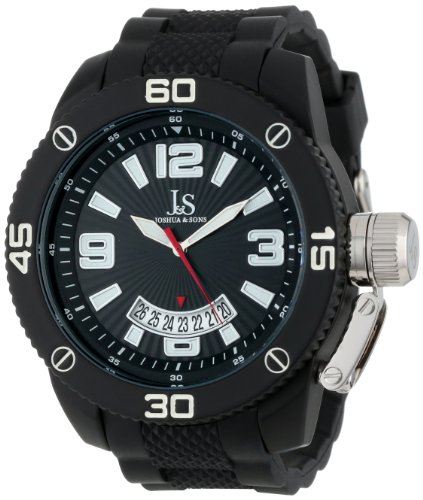 Joshua & Sons Men's JS54BK Black Sport Strap Watch