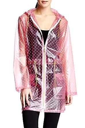 Isaac Mizrahi Sport Transparent Anorak Rain Jacket