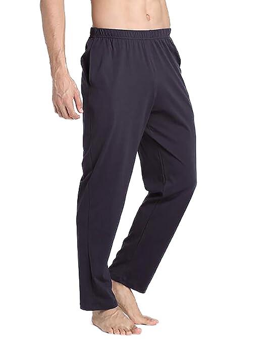 VENI MASEE Männer 100% Baumwolle Reine Farbe super weiche Pyjama Hosen Yoga Hosen