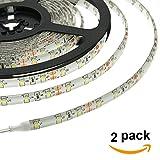 HERO-LED 5M300SAW-NW LED Strip Tape Light, 5M 16.4FT 1800LM 12V DC 24W IP65 LED Tape, Natural White 4000K, 2-Pack