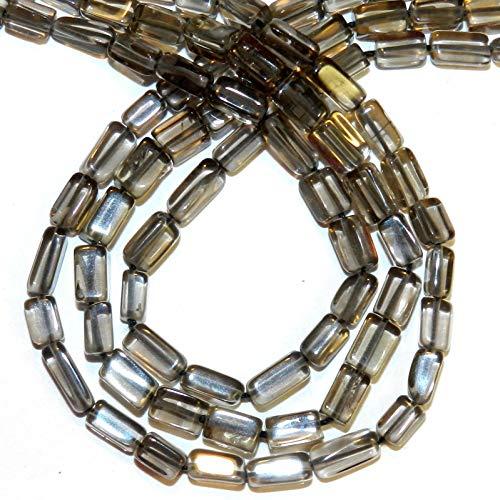 Smoky Nugget Beads Quartz - Bead Jewelry Making Gray-Brown 4mm - 6mm Hand-Cut Rectangle Nugget Smoky Quartz Bead 14