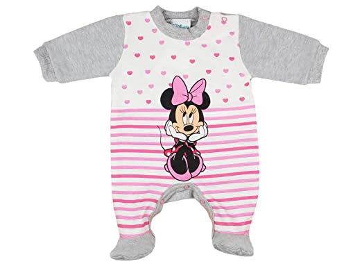 Disney - Pelele de Manga Larga con pie para niña, diseño de Minnie ...