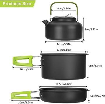 Camping Brunner Alu Ustensiles de Cuisine Casseroles Casserole avec couvercle casserole Pirate pot 5