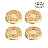 Replacement Blade Heads for Women's Electric Hair Trimmer,fit on Legs Arms Flawless Hair Remover,4pcs Gold