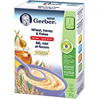 GERBER Wheat, Honey & Flakes Toddler Cereal 6 x 227 g Box (Pack of 6)