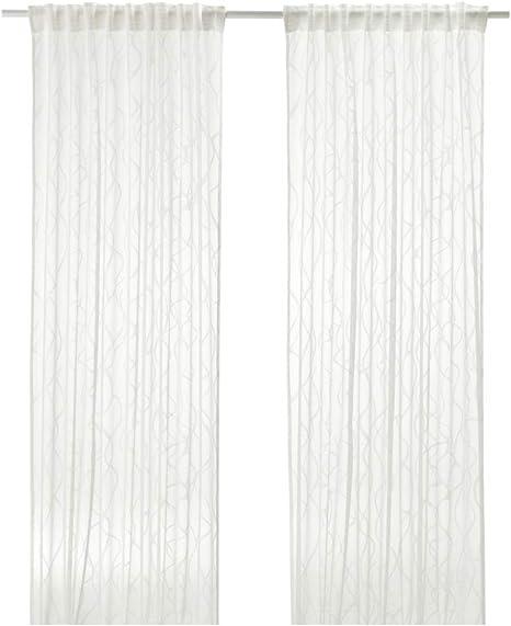 Ikea Sparvort Sheer 203 434 03 Curtains 57 X 98 Cm White Amazon De Home Kitchen