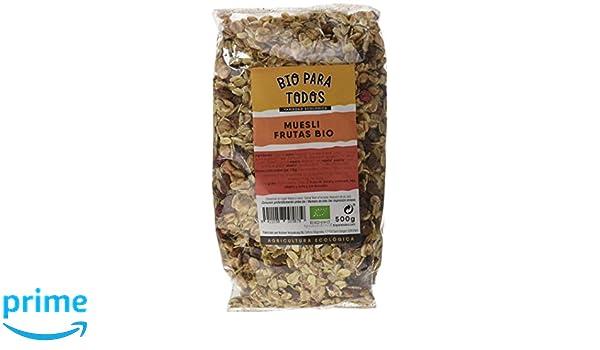 Bio para todos Muesli Frutas Bio - 4 Paquetes de 500 gr - Total: 2000 gr: Amazon.es: Alimentación y bebidas