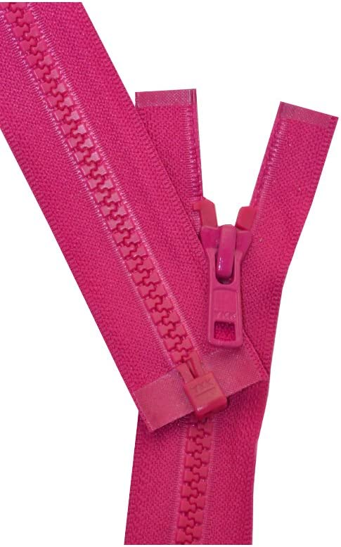Vislon Zipper YKK Number 3 Light Weight Molded Plastic Separating Made in USA