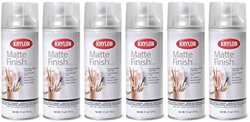 Krylon 1311 Matte Finish Clear Coating Artist Spray 11 Ounce (6 Pack)