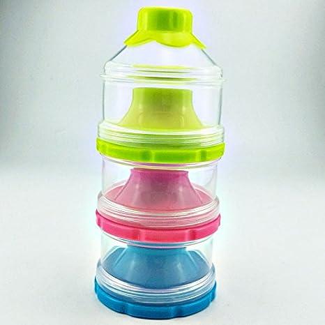 Rziioo Caja De Almacenamiento De Leche Portátil De Tres Capas De Leche En Polvo para Bebé,3: Amazon.es: Hogar