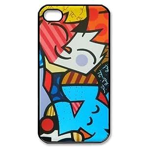 Custom Your Own Romero Britto iPhone 4/4S Case , personalised Romero Britto Iphone 4 Cover