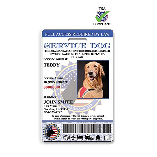 Holographic Service Dog ID Plus A Digital ID for Mobile Devices| Includes Registration to Dog Registry ()