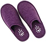 Sunshine Code Women's Memory Foam Cotton Washable Slippers With Matching Travel Bag For Home Hotel Spa Bedroom