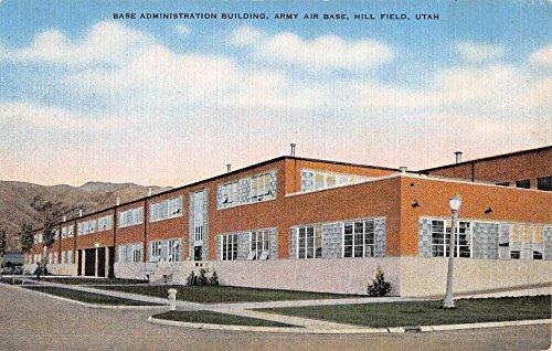 Hill Field Utah Army Air Base Admin Bldg Antique Postcard - Hill Field Utah