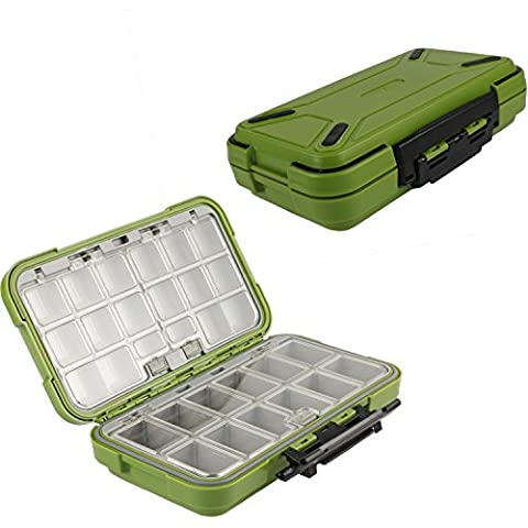 Goture Fishing-Lure-Boxes-Bait Tackle-Plastic-Storage, Small-Lure-Case, Mini-Lure-Box for Vest, Fishing-Accessories Large Boxes Storage Containers - 12 Compartment Fly Box