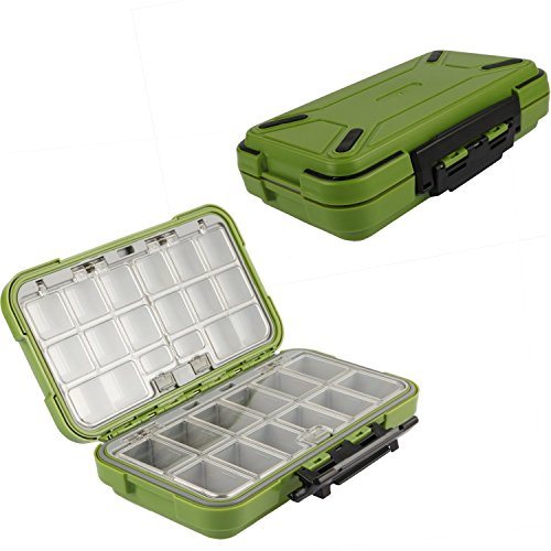 (Goture Fishing-Lure-Boxes-Bait Tackle-Plastic-Storage, Small-Lure-Case, Mini-Lure-Box for Vest, Fishing-Accessories Large Boxes Storage Containers (Large/Green))