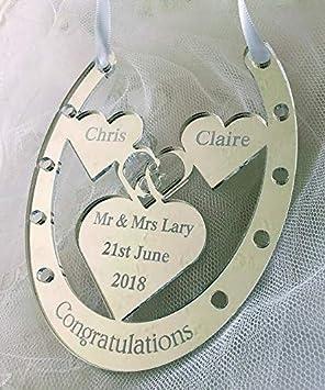 Cadeau De Mariage Personnalisé Jour Fer à Cheval En Miroir