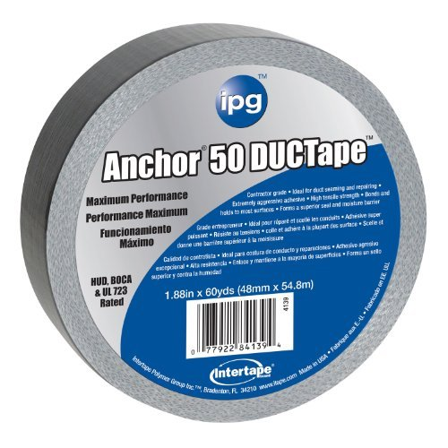 Anchor AC50 4139 Maximum Performance DUCTape 1.87-Inches x 60-Yards, 14-Mil by Intertape Polymer (Intertape Anchor)