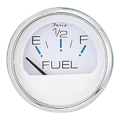 FARIA GAUGES 3003.3544 White Chesapeake Fuel Gauge SS WH: Automotive
