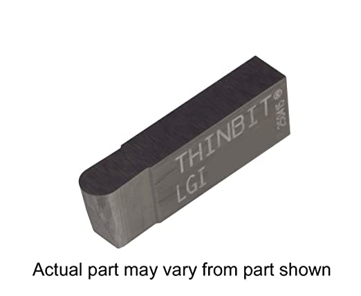 Full Radius THINBIT 3 Pack LGI100D2FR 0.100 Width 0.150 Depth Cast Iron and Stainless Steel with Interrupted Cuts Grooving Insert for Steel Uncoated Carbide