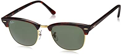 8f225d0a009239 Image Unavailable. Image not available for. Color: Ray-Ban RB3016  Clubmaster Sunglasses/Eyewear Tortoise Size 49mm