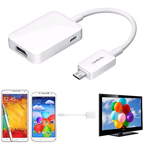 Micro USB MHL 2.0 To HDMI HDTV Adapter Cable For Samsung Galaxy S4 S5 Note (Tv Cable For Samsung Galaxy S5)