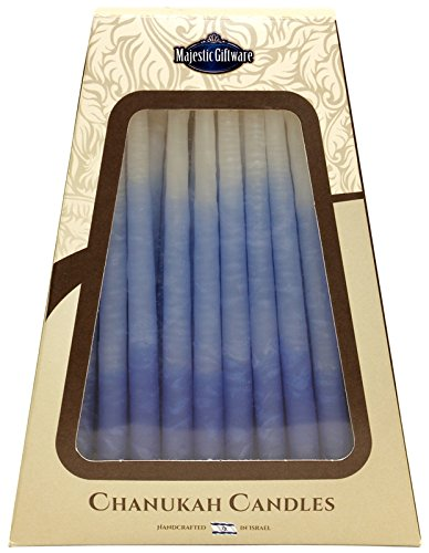 Majestic Giftware SC-CP14 Safed Handcrafted Hanukkah Candles, 6-Inch, Blue/White, 45-Pack Majestic Giftware Inc