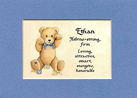 Amazon personalized baby name ethan nursery wall decor personalized baby name ethan nursery wall decor keepsake gift made in the usa negle Gallery