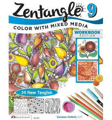 Download 30 New Tangles Colors with Mixed Media Zentangle 9 (Paperback) - Common pdf epub