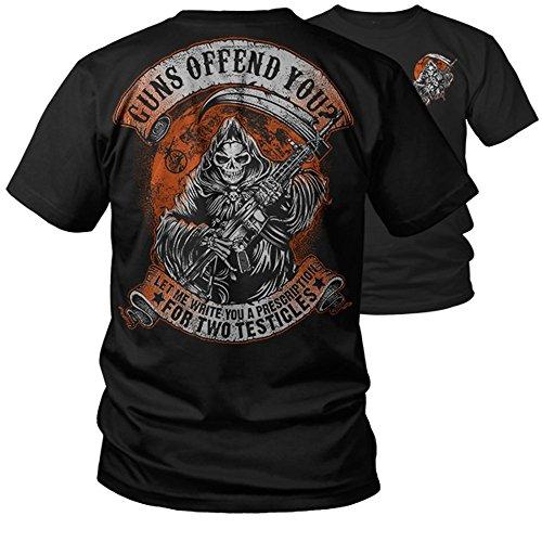 Guns Offend You? Funny Pro 2nd Amendment T-Shirt (2X) Black