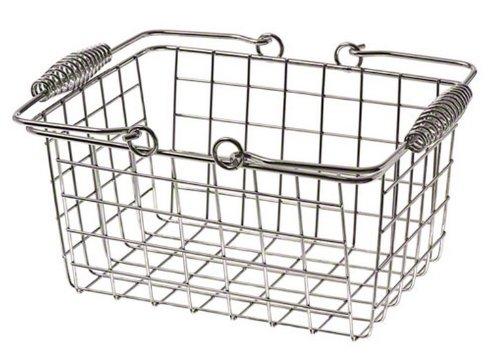- American Metalcraft (RBHC759) Chrome Rectangular Basket w/ Handles