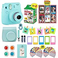 Fujifilm Instax Mini 9 ICE Blue Camera + 20 Instant Film...