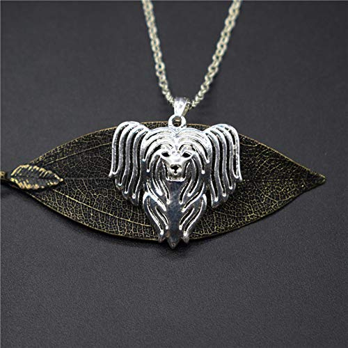 - Trendy Chinese Crested Necklaces Gold Color Silver Color Chinese Crested Pendant Necklaces Women Men Jewellery