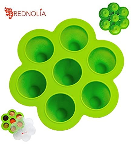 REDNOLIA Baby Food Freezer Tray with Clip-on Lid | Best Multiportion Silicone Food Storage Container for Homemade Baby Food Purees and BreastMilk | 7 x 2.5 OZ | BPA-FREE | - Simply Delicious Muffins