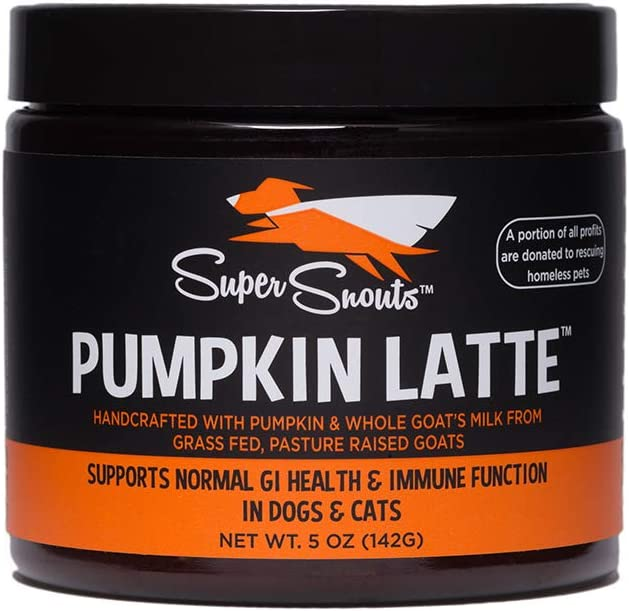 Super Snouts Pumpkin Latte Digestive Health Healthy Immune System Pumpkin and Goat s Milk 5 Ounces