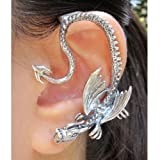 Dragon Ear Wrap Game of Thrones Inspired Throne Dragon Ear Wrap Silver Non Pierced Ear Wrap Non Pierced Ear Cuff Dragon Ear Cuff Dragon Earcuff
