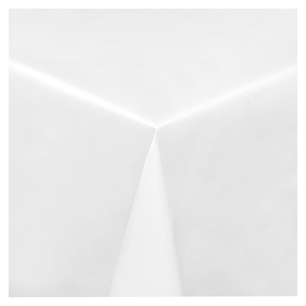 Wachstuch Tischdecke Wachstischdecke Gartentischdecke, Abwaschbar Meterware, Länge Länge Länge wählbar, Uni Weiß Glatt (100-00) 2000cm x 140cm a5d2d9