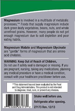 Líquido de magnesio y glicinato de Malate - respuesta de la naturaleza: Amazon.es: Salud y cuidado personal