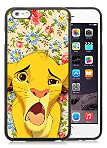 Fashionable iPhone 6S Case,Simba Funny Face Lion King Floral Cute Disney Black Customized Case For iPhone 6S 4.7 Inch TPU Case