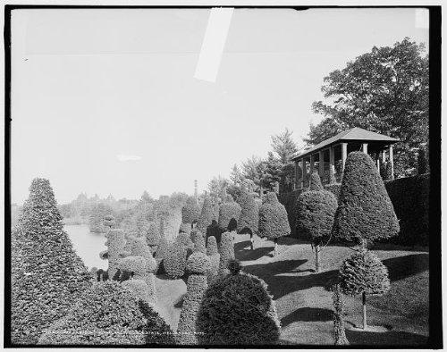 - HistoricalFindings Photo: Italian garden,topiary work,Hunnewell Estate,Wellesley,Massachusetts,MA,c1904