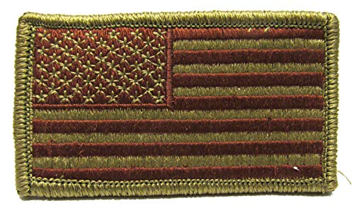 Air Force OCP Flag Spice Brown with Hook Fastener - FORWARD FACING